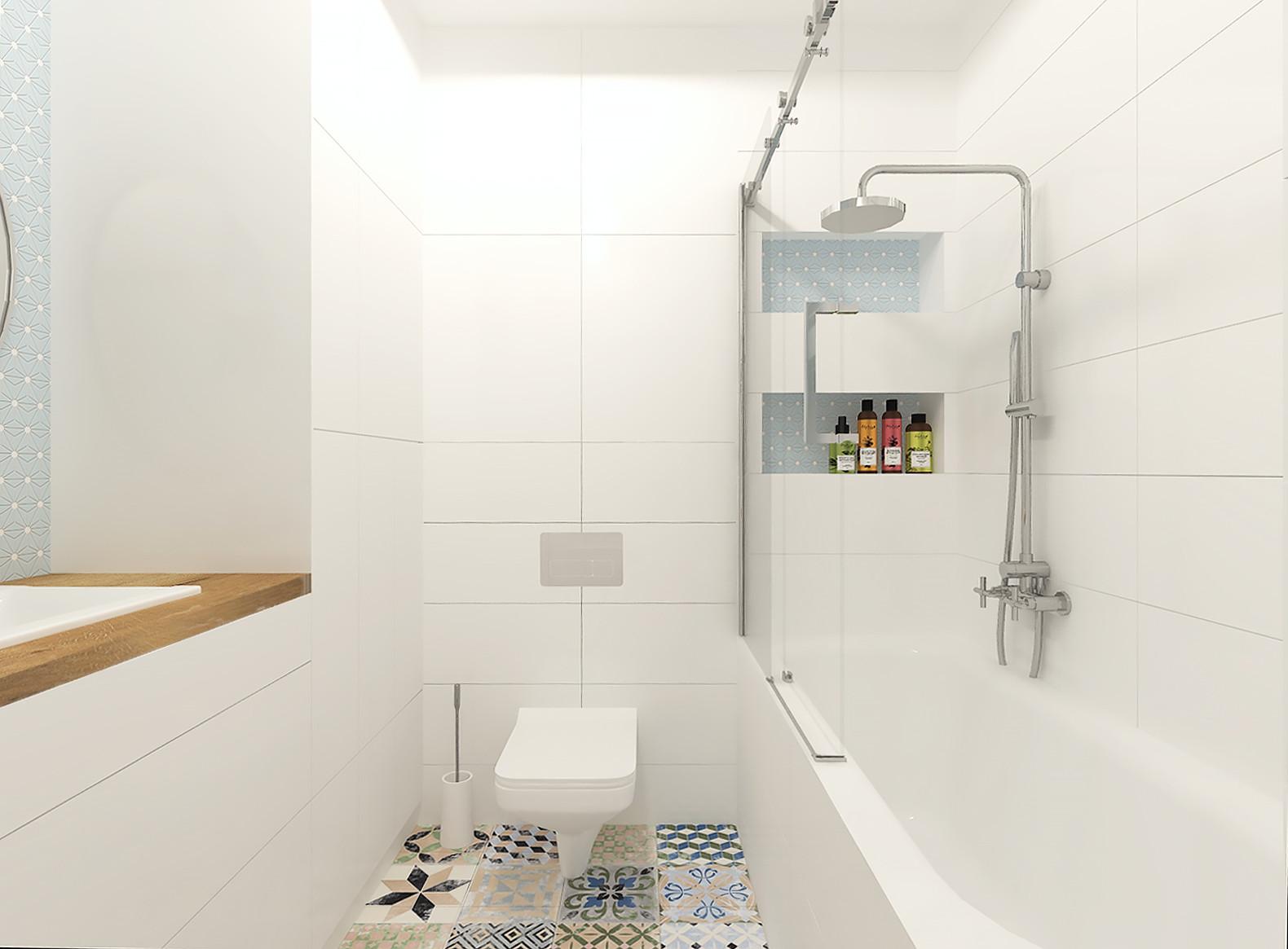 Projekt łazienki W Stylu Boho Anntresola Pracownia Wnętrz