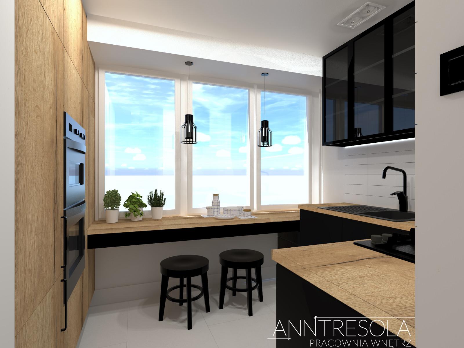 Kuchnia Mieszkanie 69m2 Bialystok Anntresola Pracownia Wnetrz