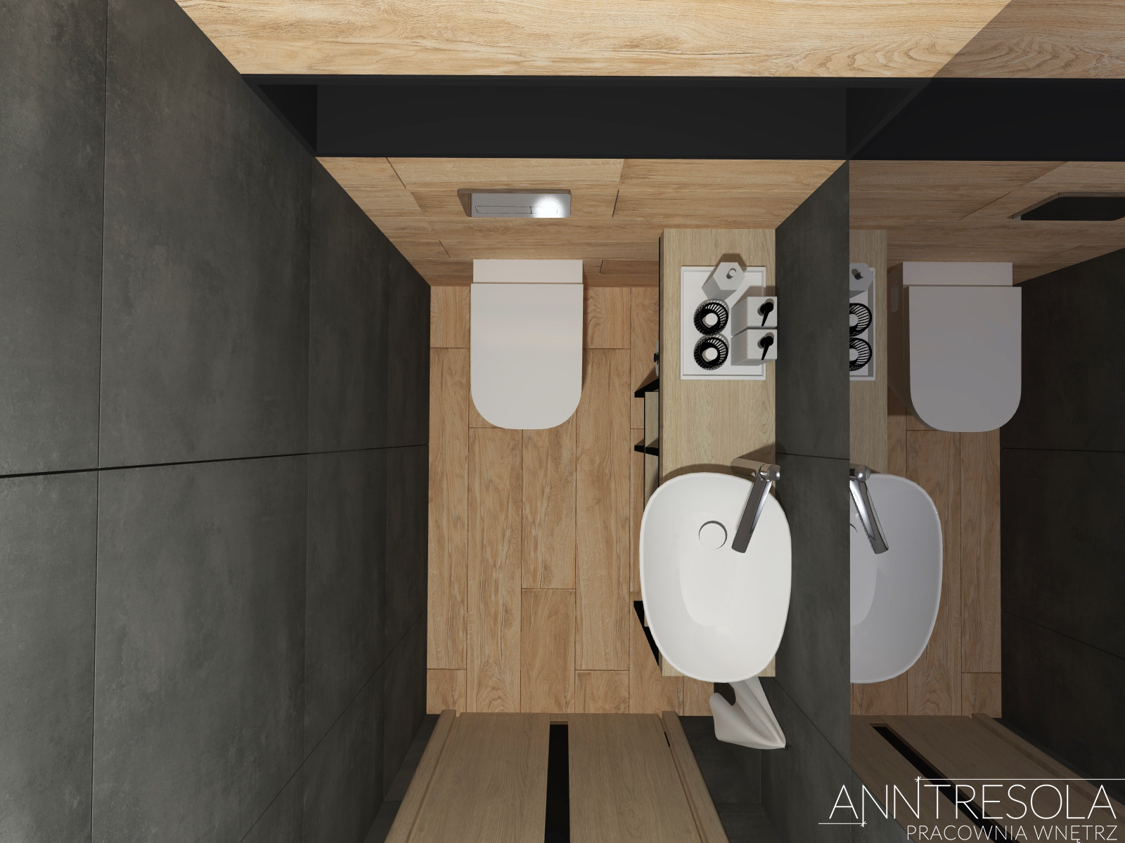 Mała łazienka Szeregówka Parter 49m2 Anntresola