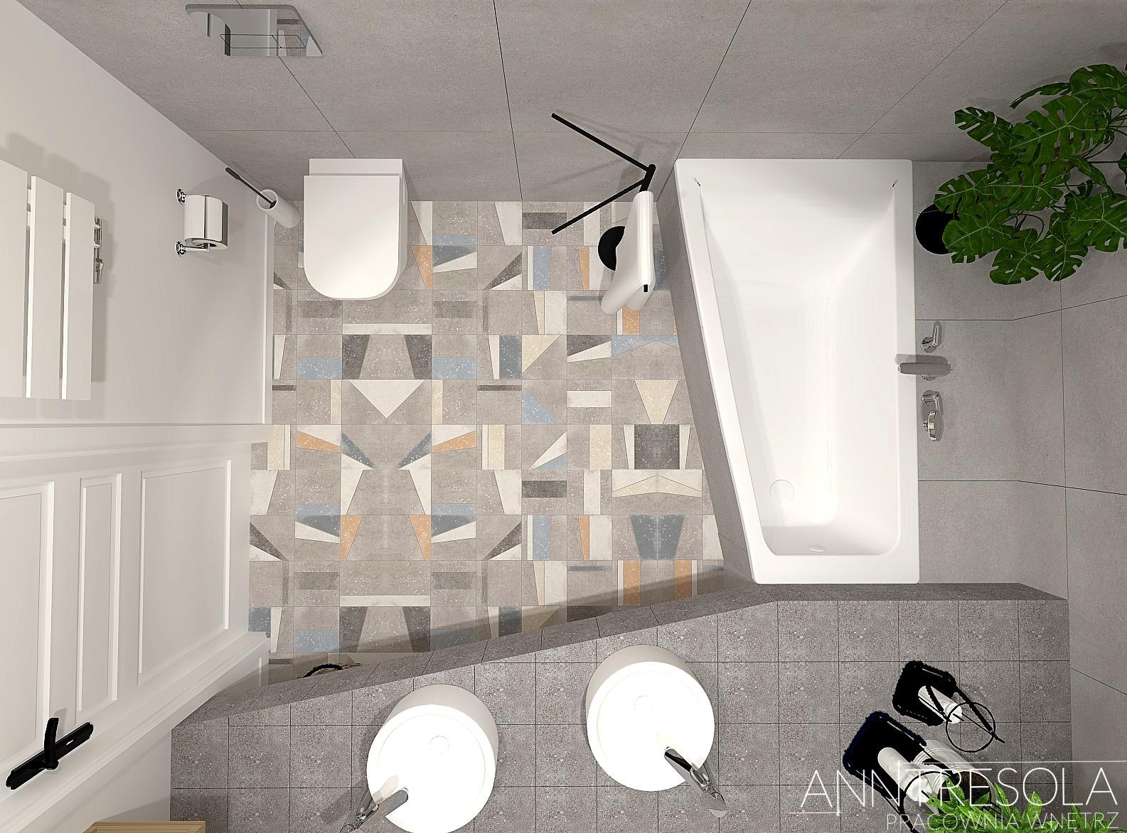 łazienka Anntresola Pracownia Wnętrz